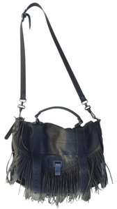 Proenza Schouler Fringe Leather Satchel in Black