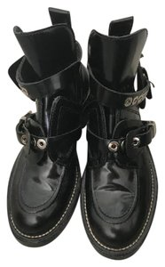 Balenciaga Edgy All Dress Up Or Down Cool Girl Black with Silver Hardware Boots