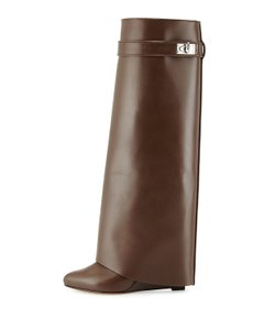 Givenchy Shark Tall Brown Boots