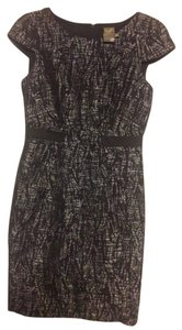 Taylor Black And Silver Mid Length Cap Dress