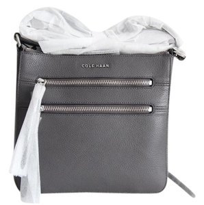 Cole Haan Antonia Leather Gray Cross Body Bag