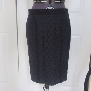 Magaschoni Eyelet Skirt Black
