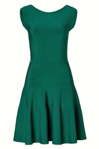 ISSA London short dress Emerald Green A-line Green Ribbed Knit on Tradesy