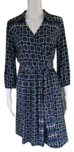 Talbots Geometric Slinky Cross Over Dress