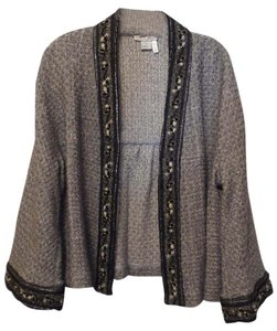 Alberto Makali Kimono Xl Cardigan Knit Grey, black Jacket