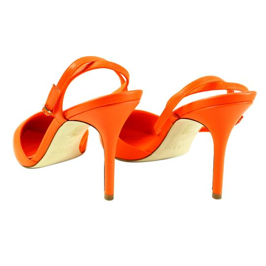 J.Crew Ankle Wrap Neon Flame Pumps Image 2