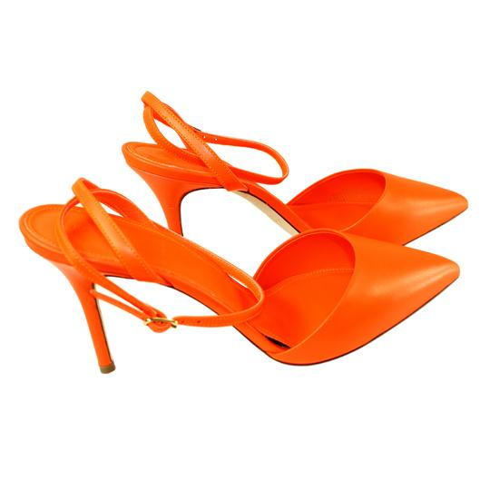 J.Crew Ankle Wrap Neon Flame Pumps Image 4