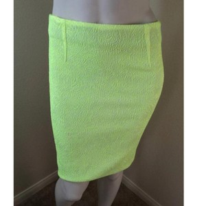 Narciso Rodriguez Mini Skirt Yellow