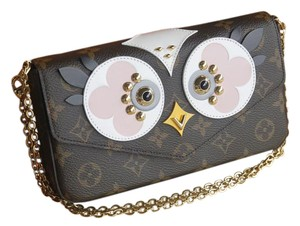 Louis Vuitton Clutch Rose Ballerina Limited Edition Owl Felicie Cross Body Bag