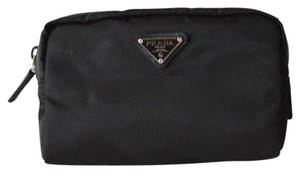 Prada Black Small Vela Cosmetic Pouch