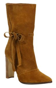 Manolo Blahnik Suede Slouch Brown Boots