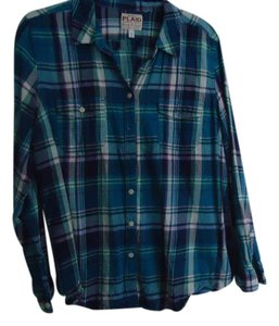 Old Navy Flannel Button Down Shirt Plaid