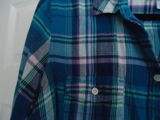 Old Navy Flannel Button Down Shirt Plaid Image 1