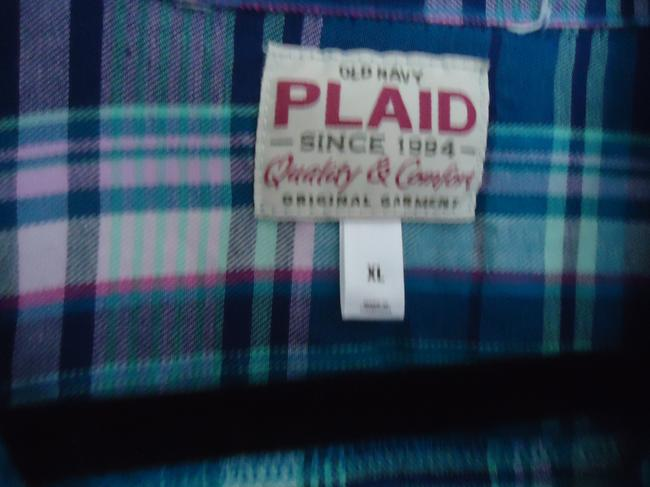 Old Navy Flannel Button Down Shirt Plaid Image 2