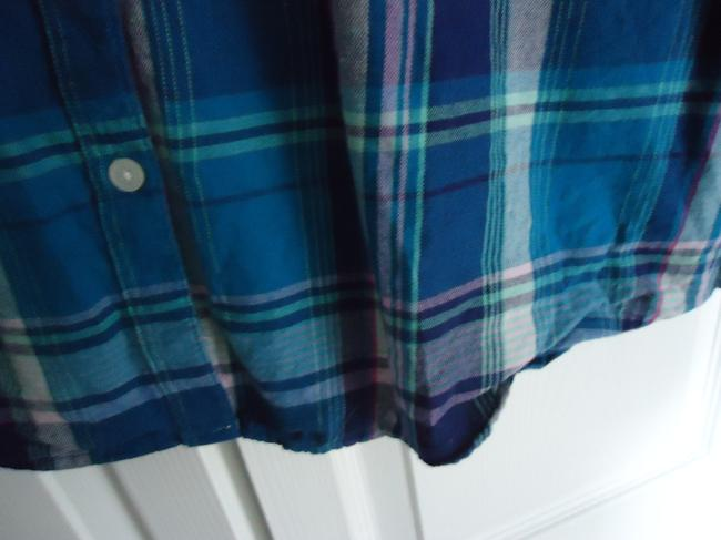 Old Navy Flannel Button Down Shirt Plaid Image 3