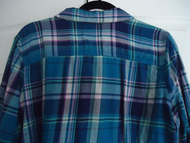Old Navy Flannel Button Down Shirt Plaid Image 5