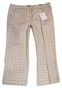 Zac & Rachel Capris Beige and white print