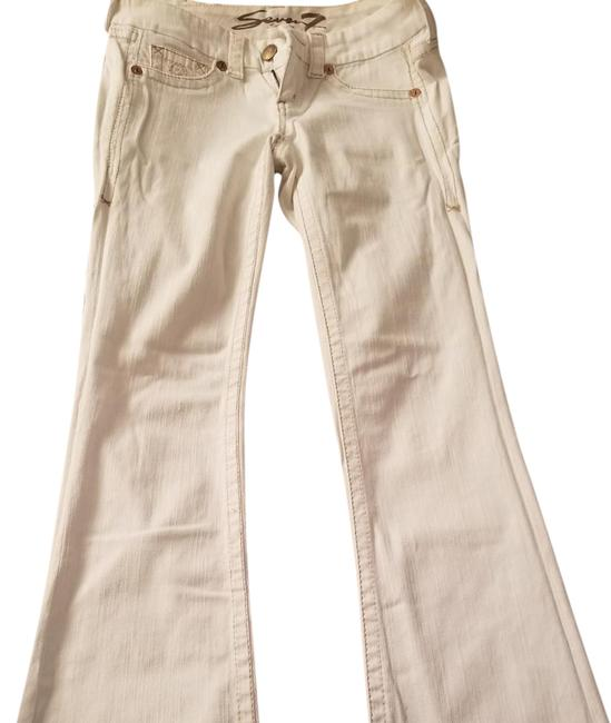 Item - White Boot Cut Flare Leg Jeans Size 28 (4, S)