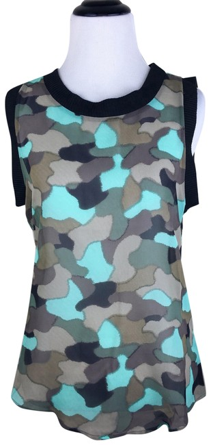 Preload https://item2.tradesy.com/images/teal-black-philosophy-camo-sheer-sleeveless-blouse-size-2-xs-20652426-0-4.jpg?width=400&height=650