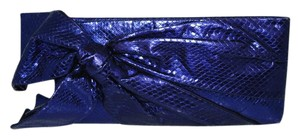 Valentino Snake Embossed Made In Italy PURPLE Clutch