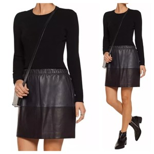 Vince Mini Skirt navy blue black