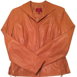 Cole Haan Leather Lamb Leather Caramel Jacket