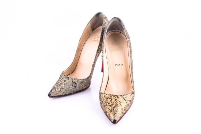 Christian Louboutin Gold Bronze Brocade So Kate 120 Pumps Size US 11.5 Regular (M, B) Christian Louboutin Gold Bronze Brocade So Kate 120 Pumps Size US 11.5 Regular (M, B) Image 1