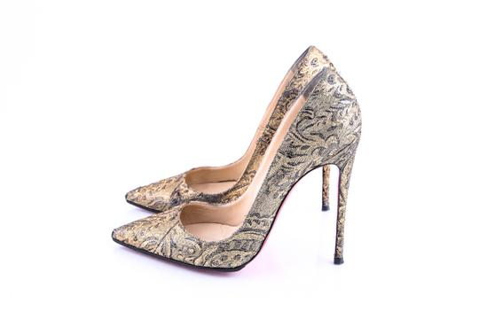 Christian Louboutin Gold Pumps Image 2