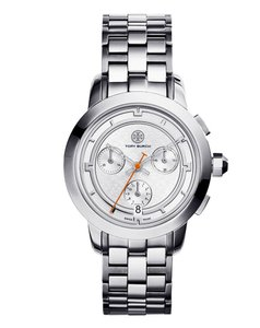 Tory Burch Tory Watch, Stainless Steel/silver Chronograph, 37 Mm