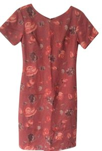 Coldwater Creek short dress Burnt Orange Versatile Linen Fully Lined Floral Warm Tones Knee Length on Tradesy