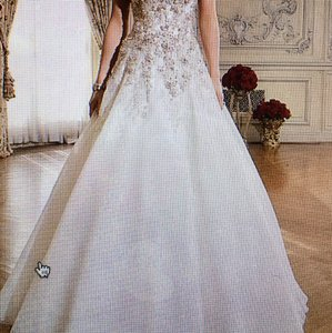 Justin Alexander Justin Alexander Beaded And Embroidered Lace A-line Bridal Gown Wedding Dress