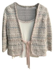 Escada Escada Pastel Tweed Trimmed Jacket and top SZ 38