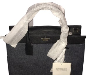 Kate Spade Tote in denim, black, white