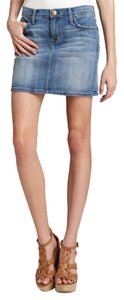 Current/Elliott Jean Classic 1980's Fitted Mini Skirt Denim
