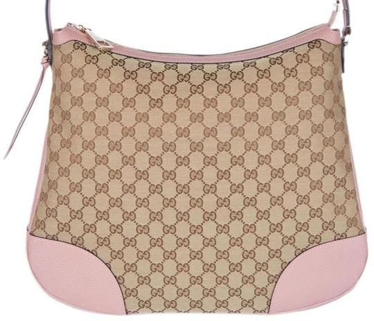 Preload https://item1.tradesy.com/images/gucci-canvas-leather-pink-hobo-bag-20653355-0-2.jpg?width=440&height=440