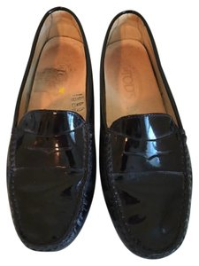 Tod's Black Patent Leather Flats