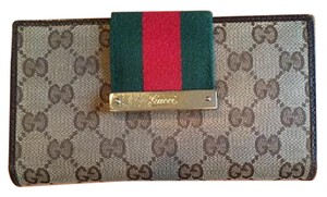 Gucci Monogram Gucci Striped Canvas Wallet