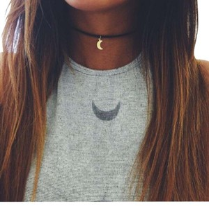 October Love antique gold plated choker