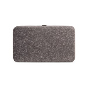 Target NEW with Tags Kiss Lock Pewter / Grey Shimmer Clutch Wallet