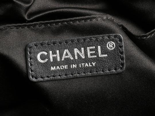 Chanel Quilted Ch.k1130.12 Evening Pleated Sequined Black Clutch Image 10