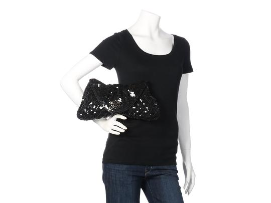 Chanel Quilted Ch.k1130.12 Evening Pleated Sequined Black Clutch Image 11