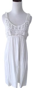 Chelsea & Violet white knit crochet beach coverup dress