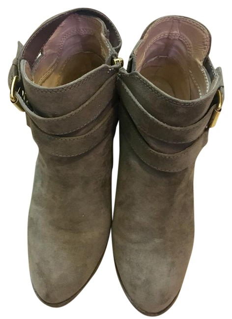 Item - Grey Heeled Boots/Booties Size US 8