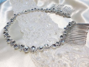 Silver Jeweled Hairpiece