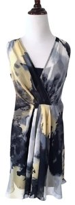 Simply Vera Vera Wang short dress gray Flowy Chiffon Watercolor on Tradesy