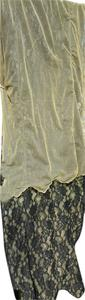 Betsey Johnson NWT Black rayon nylon blend lace over light green nylon sheer.
