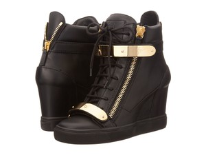 Giuseppe Zanotti Black Leather Athletic