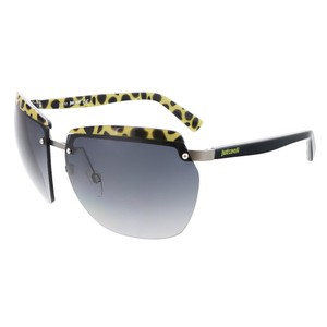 Just Cavalli Just Cavalli Black/Yellow Rimless Square Sunglasses