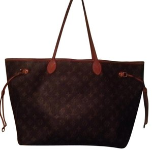 Louis Vuitton Neverfull Artsy Gm Mm Monogram Tote in Brown