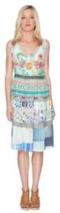 Johnny Was short dress multi Boho Empire Waist Sleeveless Tiered Print on Tradesy